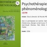 Psychothérapie - phénoménologie